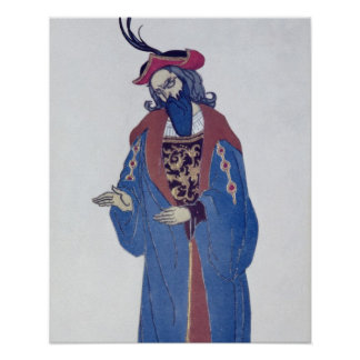 Costume design for Blue-Beard, from Sleeping Beaut Poster