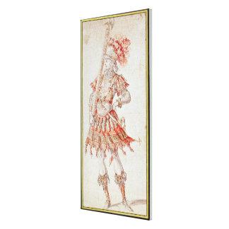 Costume design for Carousel, c.1662 Canvas Print