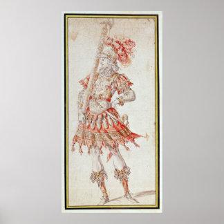 Costume design for Carousel, c.1662 Poster