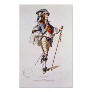 Costume design for Don Juan by Moliere Print