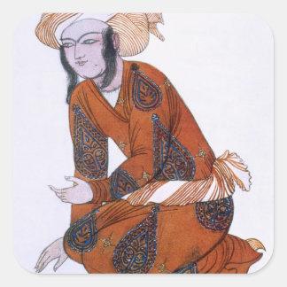 Costume design for L'Adoration de Tcherepnine, 192 Square Sticker