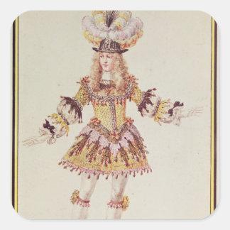 Costume design for male dancer, c.1660 square sticker