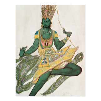 Costume design for Nijinsky as the 'Blue God' Postcard