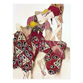Costume design for Nijinsky at ballet 'La Postcard