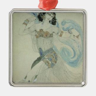 Costume design for Salome Silver-Colored Square Decoration
