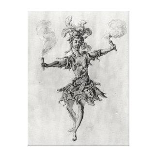 Costume design for the ballet 'Medusa' Stretched Canvas Print