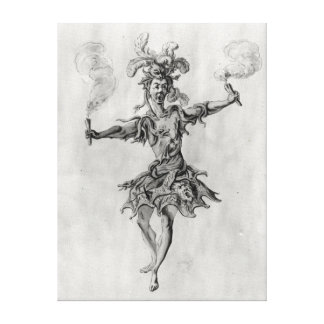 Costume design for the ballet 'Medusa' Canvas Print