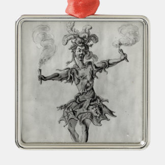 Costume design for the ballet 'Medusa' Silver-Colored Square Decoration