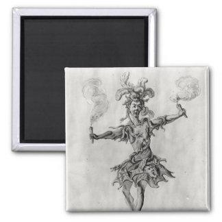 Costume design for the ballet 'Medusa' Square Magnet