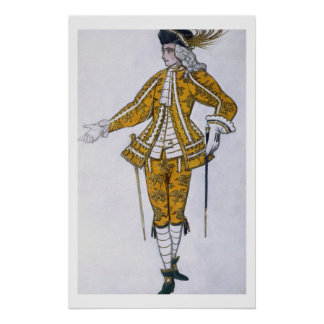 Costume design for the Fairy Canary's Pageboy, fro Poster