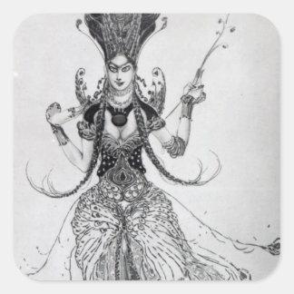 Costume design for 'The Firebird', 1910 Square Sticker