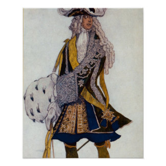 Costume design for The King, in the Garden, from S Poster