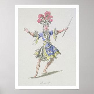 Costume design for the Magician, in Dardanus, a li Print