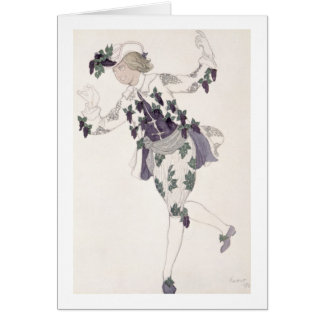 Costume design for the Pageboy of the Fairy Lilac, Greeting Card