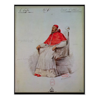 Costume design for the Pope Clement VII Poster