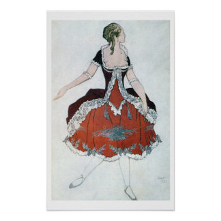 Costume design for The Princess Aurora, from Sleep Poster
