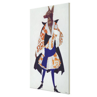 Costume design for The Wolf, from  Sleeping Beauty Canvas Print