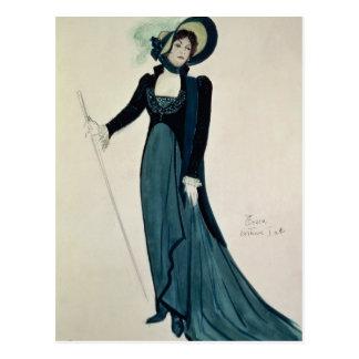 Costume design for Tosca Postcard
