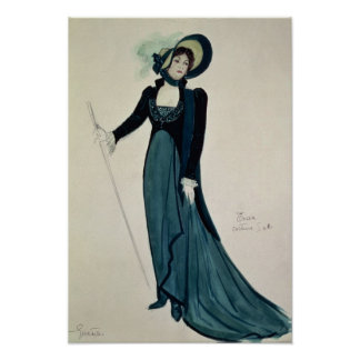 Costume design for Tosca Poster