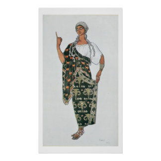 Costume design from Phedre, 1917 (colour litho) Poster
