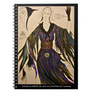 Costume design notebook