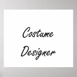 Costume Designer Artistic Job Design Poster