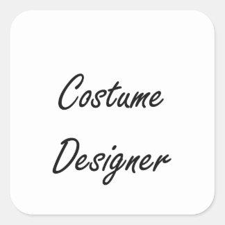 Costume Designer Artistic Job Design Square Sticker