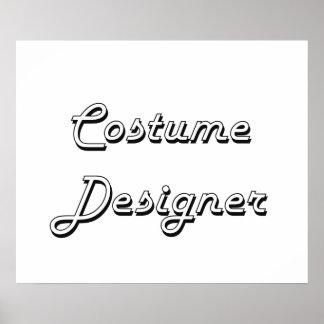 Costume Designer Classic Job Design Poster