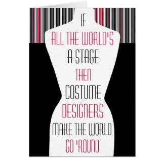 Costume Designers Card