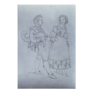 Costume designs Figaro and Susanna from opera Poster