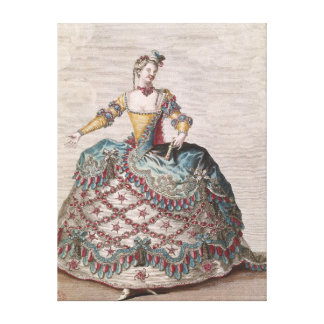 Costume for an Indian woman Canvas Print