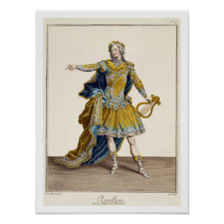 Costume for Apollo in the opera 'Phaethon', engrav Poster