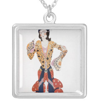 Costume for Nijinsky  in the ballet Silver Plated Necklace