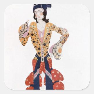 Costume for Nijinsky  in the ballet Square Sticker