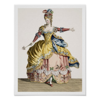 Costume for the Queen of the Sylphs in the Ballet Poster