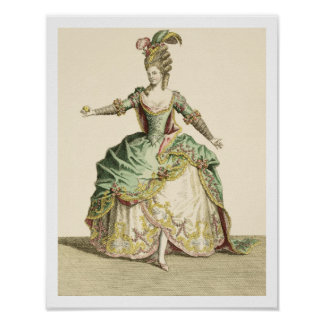 Costume for Venus in several operas, engraved by t Poster
