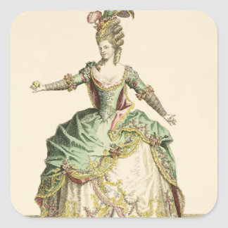 Costume for Venus in several operas, engraved by t Square Sticker