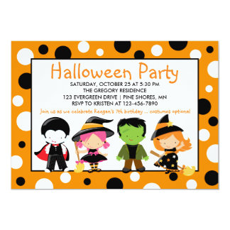 Costume Halloween Party Invitation