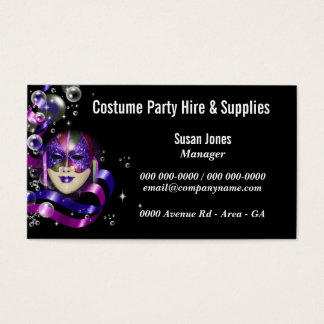 Costume hire fancy dress PERSONALIZE Business Card