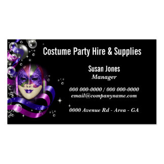 Costume hire fancy dress PERSONALIZE Pack Of Standard Business Cards