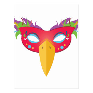 Costume Mask Postcard