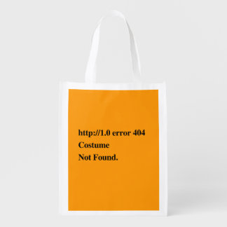 COSTUME NOT FOUND - Halloween - png Grocery Bag