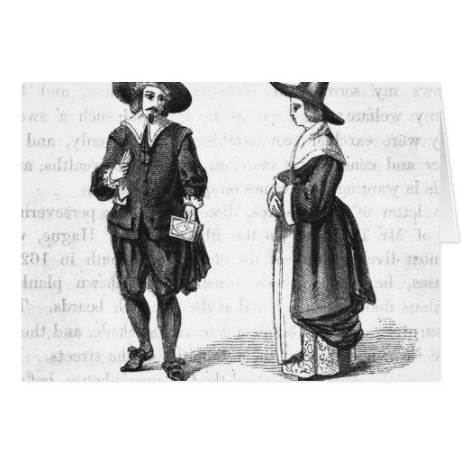 Costume of the Pilgrims Cards