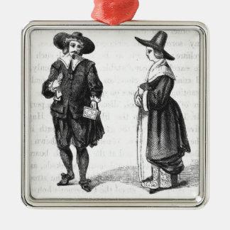 Costume of the Pilgrims Christmas Ornament