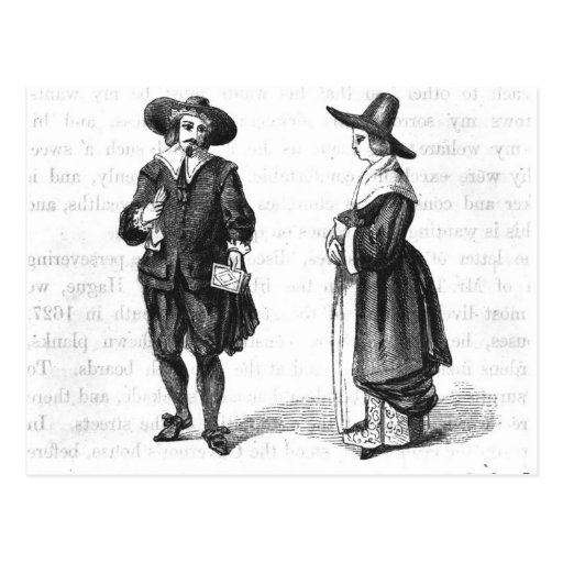 Costume of the Pilgrims Postcard