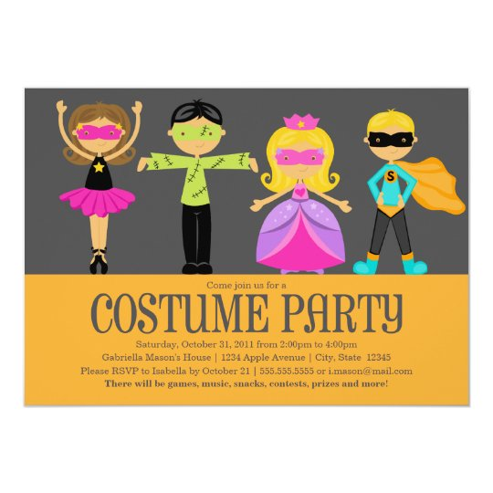 Costume Party Card