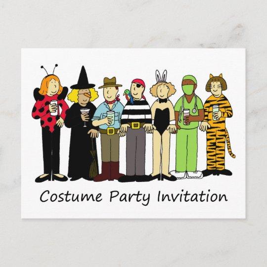 costume party invitation children in fancy dress invitation