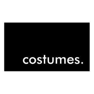 costumes. business card template