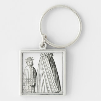 Costumes of a Livonian noblewoman Key Ring