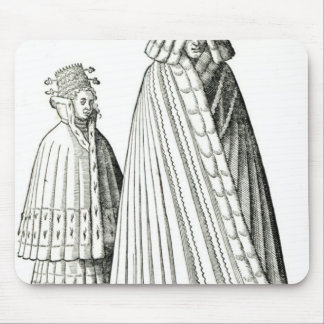 Costumes of a Livonian noblewoman Mouse Pad